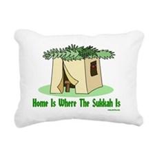 Home Is Where The Sukkah Rectangular Canvas Pillow
