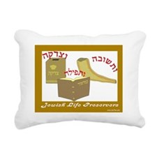 Jewish Life Preserver Rectangular Canvas Pillow