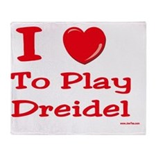 i love to play dreidel Throw Blanket