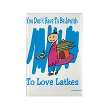 Jewish Latkes Rectangle Magnet