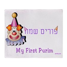 my first purim 5 Throw Blanket