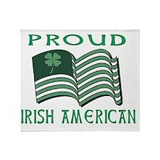 PROUD IRISH AMERICAN FLAT Throw Blanket