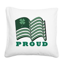 PROUD IRISHflat Square Canvas Pillow