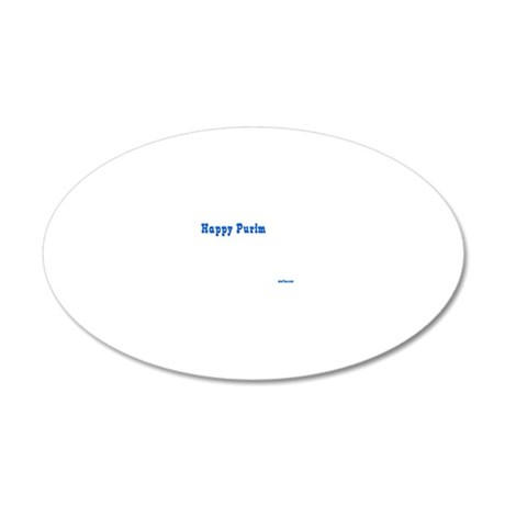 HAppy Purim insert 1 20x12 Oval Wall Decal