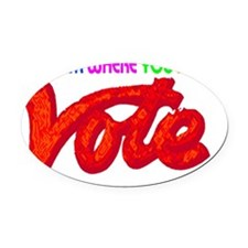 Vote Oval Car Magnet