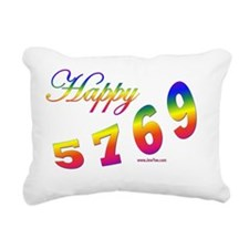 Happy 5769 flat Rectangular Canvas Pillow