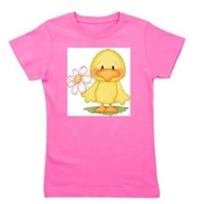 Duck with flower Girl's Tee