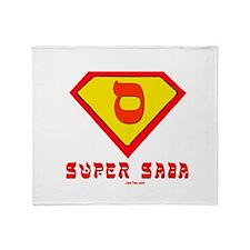 Super Saba flat Throw Blanket
