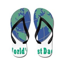 Worlds Best Dad flat Flip Flops