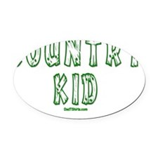Country Kid Oval Car Magnet