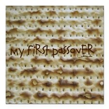 "My First Passover Marzoh Square Car Magnet 3"" x 3"""