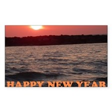 Happy New Year Sunset Decal