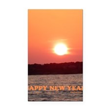 SUNSET HAPPY NEW YEAR C Rectangle Car Magnet
