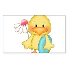 Duck with egg and flower Decal