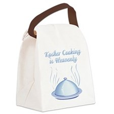 KosherCooking-WHITE flat Canvas Lunch Bag