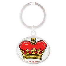 King Right flat Oval Keychain