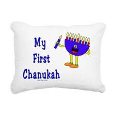 My First Chanukah Blue f Rectangular Canvas Pillow