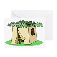 Sukkah Flat Greeting Card
