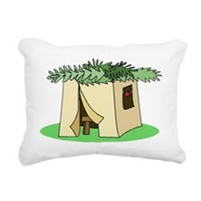 Sukkah Flat Rectangular Canvas Pillow