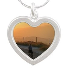 Jewish New Year Wishes Silver Heart Necklace
