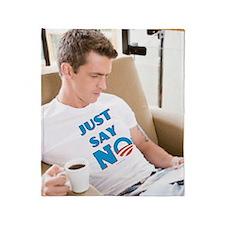 Just Say No Anti Obama Throw Blanket