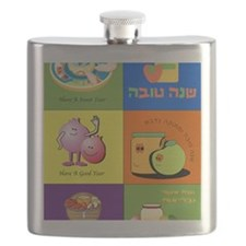 Hebrew English Jewish New Year Flask