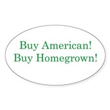 Buy Homegrown Oval Decal
