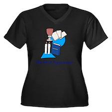 My First Pas Women's Plus Size Dark V-Neck T-Shirt