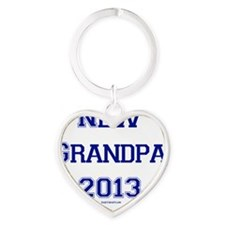 New Grandpa 2013 Heart Keychain
