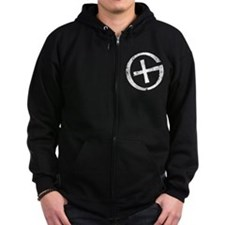 Geocaching Symbol Distressed Zip Hoodie