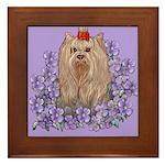 Yorkshire Terrier - YORKIE Framed Tile