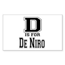 D is for De Niro Rectangle Decal