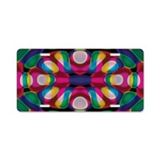 Colorful Funky Aluminum License Plate