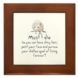 stop animal testing Framed Tile