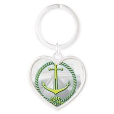 ghost ship2 Heart Keychain