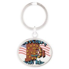 Coventry Oval Keychain