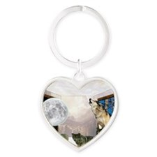Room Of Wolves Heart Keychain