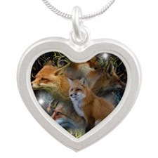 Foxy Silver Heart Necklace