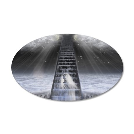 Stairway to Heaven 35x21 Oval Wall Decal