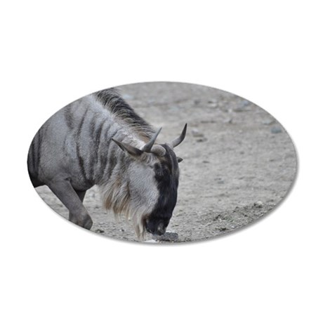 Wildebeest2 35x21 Oval Wall Decal