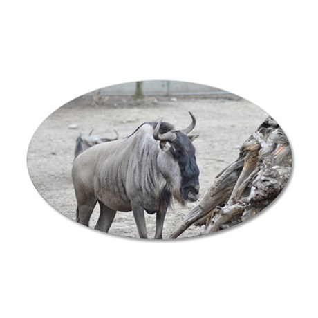 Wildebeest 35x21 Oval Wall Decal