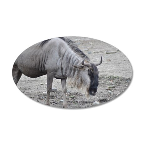 Wildebeest3 35x21 Oval Wall Decal