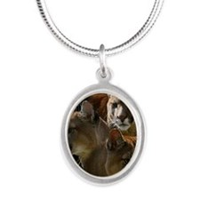 Cougar Silver Oval Necklace