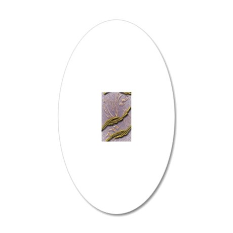 Gold Leaf 20x12 Oval Wall Decal