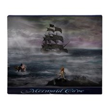 Mermaid Cove Large Throw Blanket