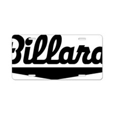 Billard Aluminum License Plate