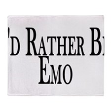 Rather Be Emo Throw Blanket