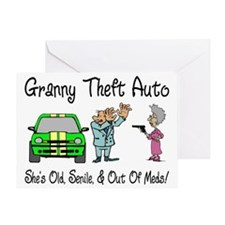 Granny Theft Auto Greeting Card