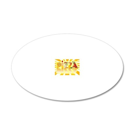 Sunshine Pizza 20x12 Oval Wall Decal