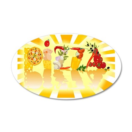 Sunshine Pizza 35x21 Oval Wall Decal